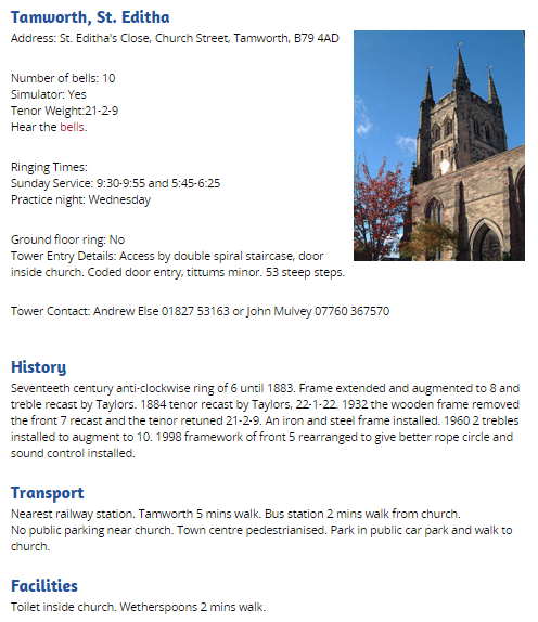 Tamworth tower page