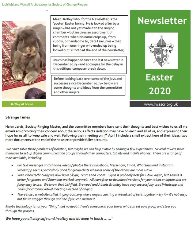 Newsletter cover April 2019